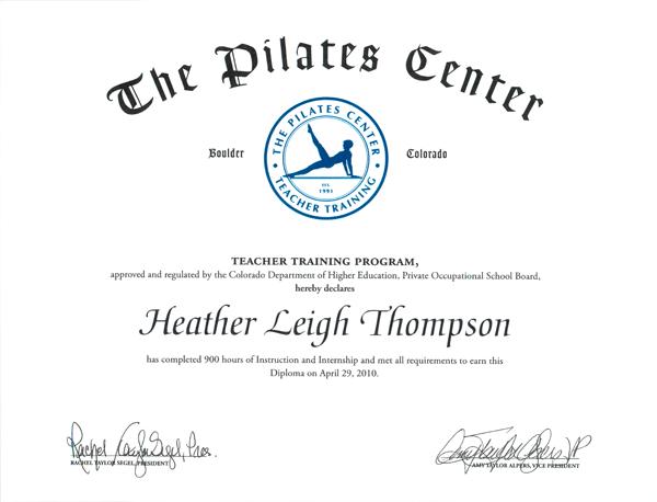 Pilates Pilates Certification